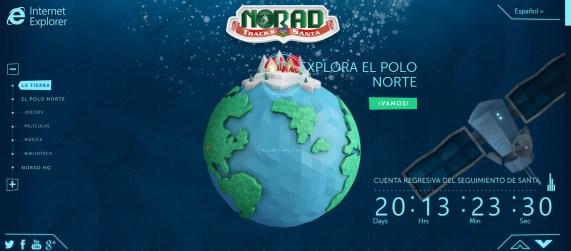 Seguir a Papa Noel en mapa interactivo en 3D
