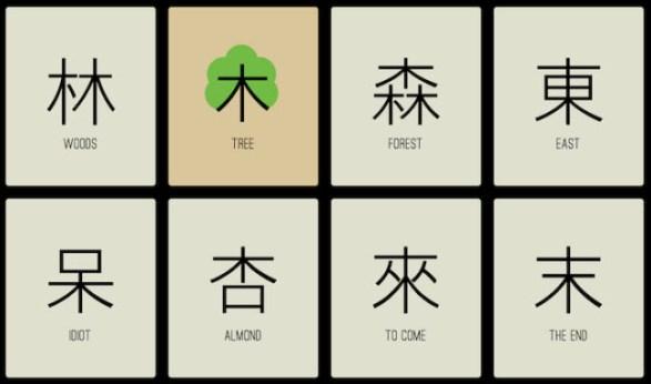 Aprender a escribir chino asociando caracteres