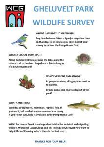 Gheluvelt Park wildlife survey