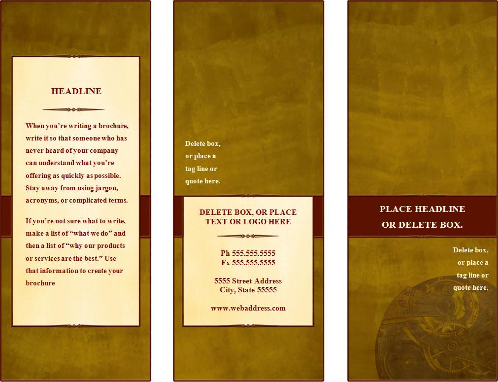 Microsoft Word Pamphlet Template. make a tri fold brochure ...