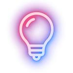 A shiny idea bulb