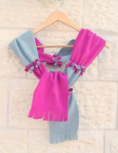 """A nice twist on the """"tie"""" method with two colors -- could also be down on the horizontal"""