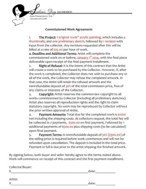 5 commission agreement templates word excel templates for Commission sharing agreement template