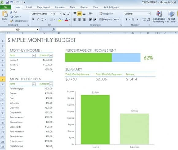6 Excel Budget Templates Word Excel Templates