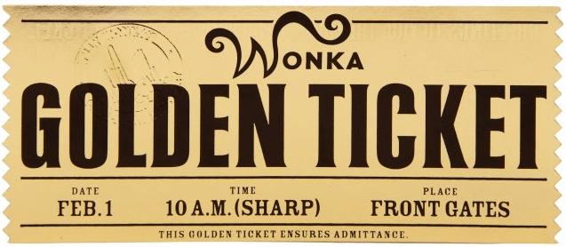Golden Ticket Template 368