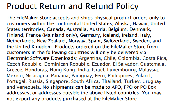 return policy template 499
