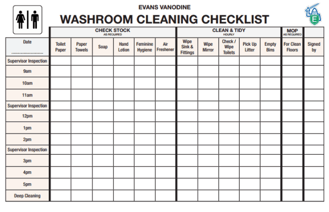 6 Toilet Checklists Word Excel Templates
