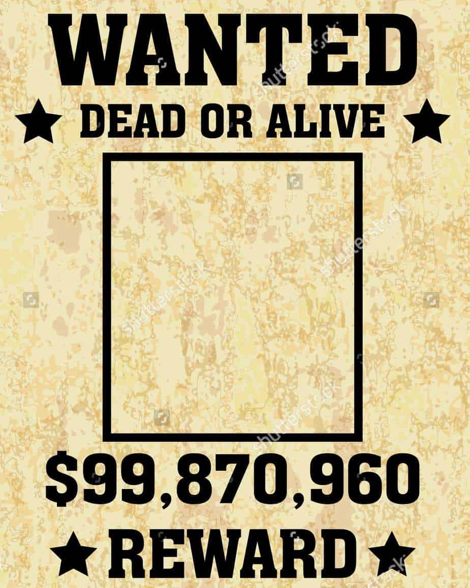 word wanted poster template