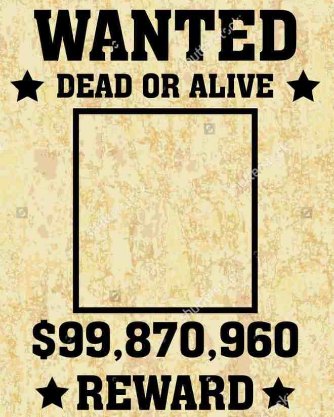 Wanted Poster Template 0121