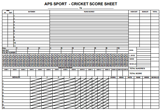 cricket score sheet excel - Keni.candlecomfortzone.com