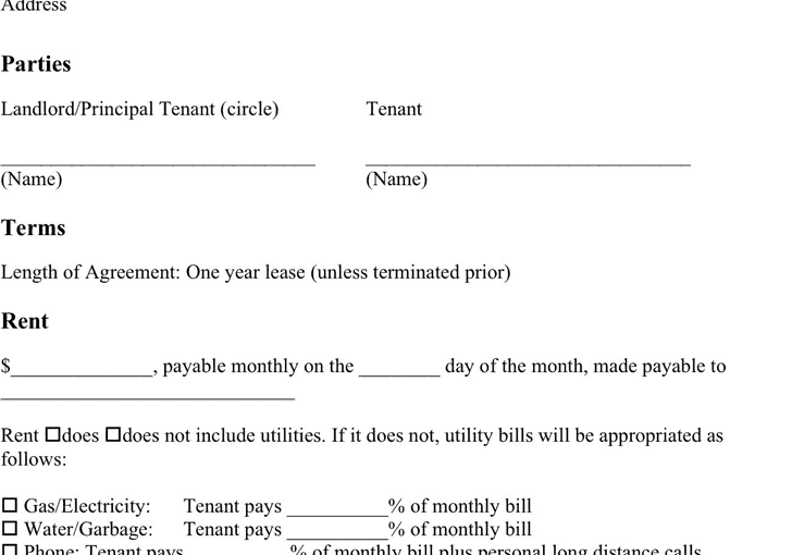 Basic Room Rental Agreement Format Archives Word Excel Templates – Basic Rental Agreement Letter Template