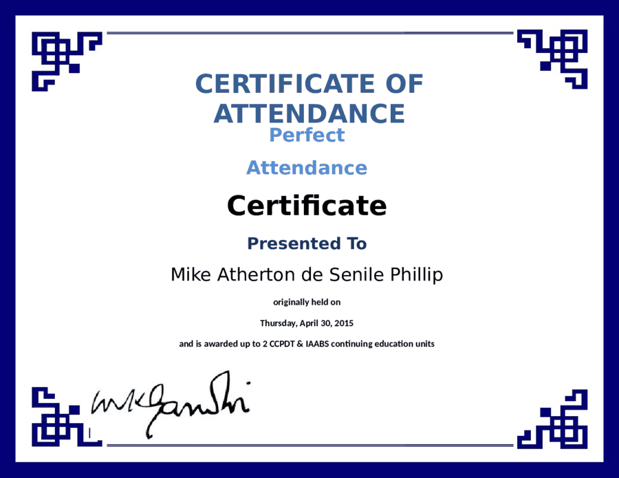 Free Printable Perfect Attendance Certificate Template Amazing