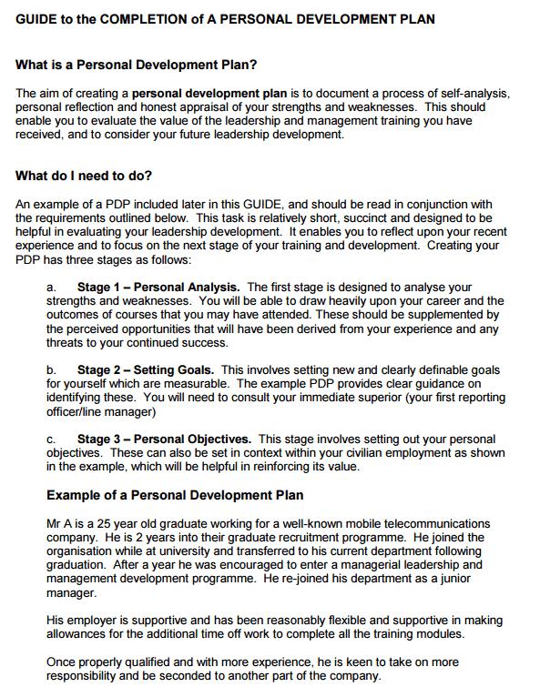 how do you write a leadership development plan