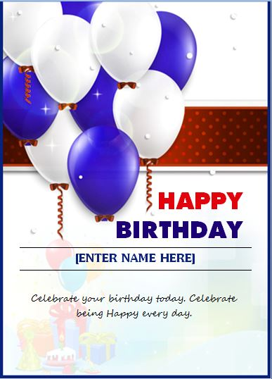 Happy Birthday Wishing Card Word Amp Excel Templates