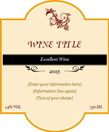 Custom Wine Label Design Template