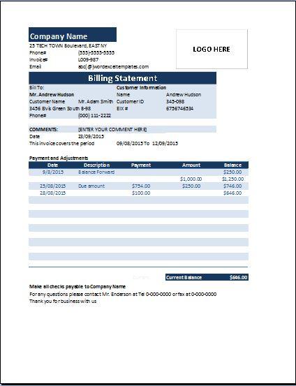Billing Templates service invoice template 20 free word excel – Service Billing Invoice Template