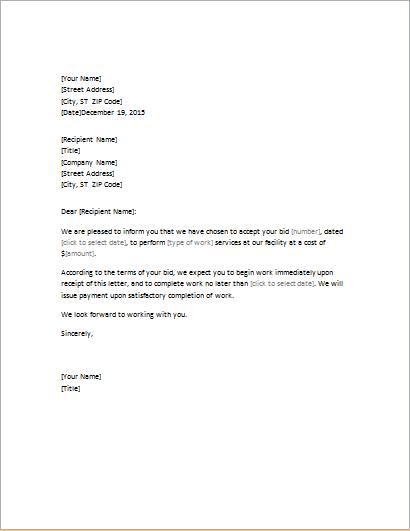 Formal Bid Proposal Template