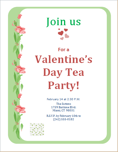Valentine Party Invitation Template Day Scavenger Hunt
