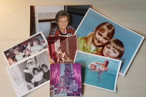 Tracey and family: Collection of family photos for a national newspaper feature.