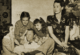 b3c66dc628f8 The Original Cast of Father Knows Best on Radio From left to right: Norma  Jean Nilsson (Kathy), Ted Donaldson (Bud), Robert Young (Jim), Rhoda  Williams ...