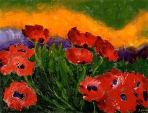 Flowers Word Image Spirit - Emile Nolde Red Poppies