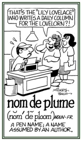 Image result for pen name cartoon