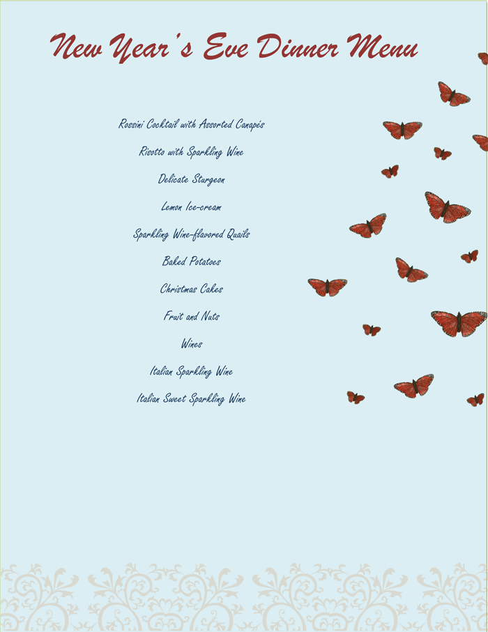 Word Menu Templates menu templates free word excel pdf dinner – Free Word Menu Template