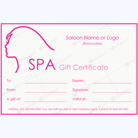 Word Gift Card Template. gift certificate templates make gift ...
