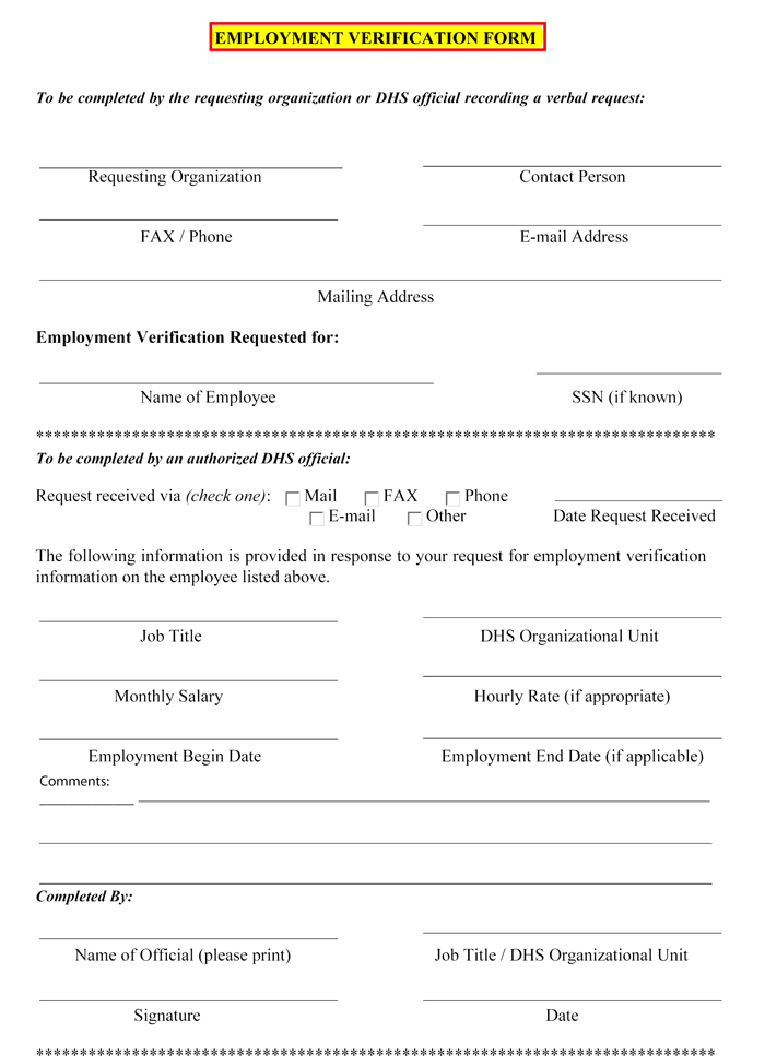 Champlain College Publishing  Employment Verification Form Sample