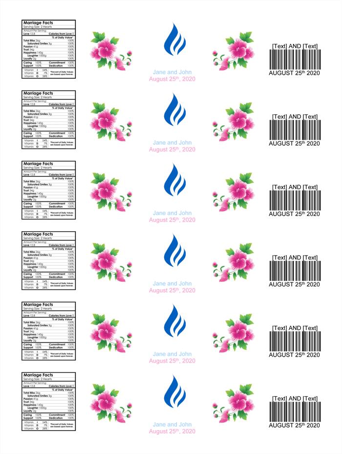 Water Bottle Labels Template. water bottle label template ...