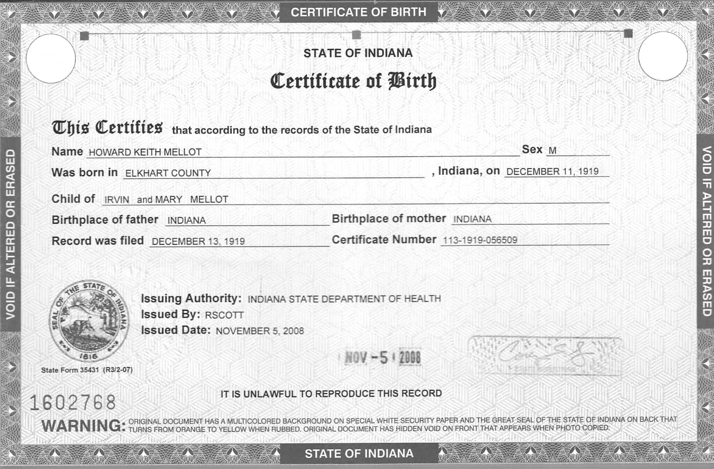 5 Birth Certificate Templates - Excel PDF Formats