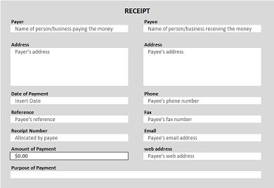cash receipt template 22
