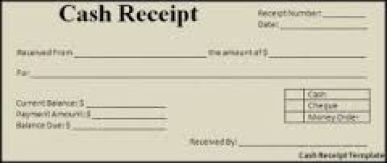 cash receipt template 33