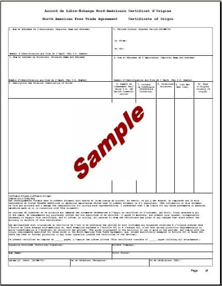 certificate of origin template 11