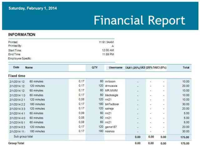 financial report template 33