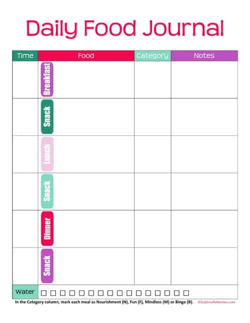 Food Juornal Template 44  Food Diary Template Download