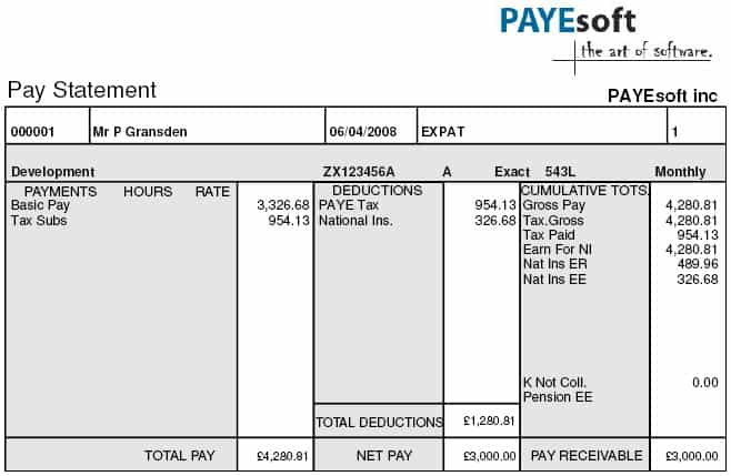 salary slip format in excel free download excel templates salary – Salary Payment Slip Format