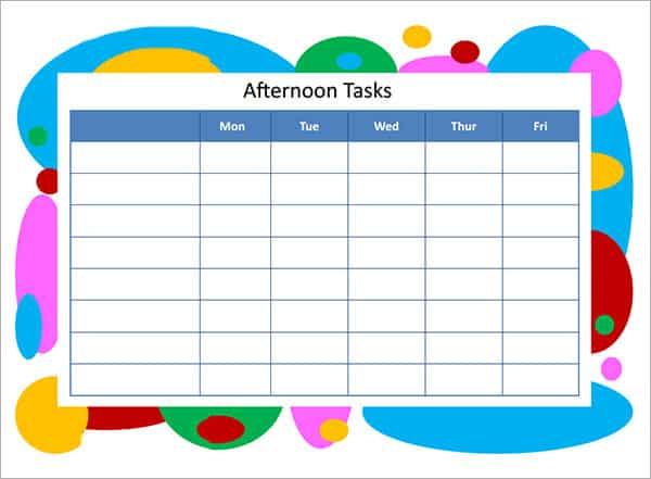 task list template 55