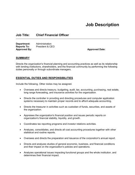 4 job description templates excel pdf formats