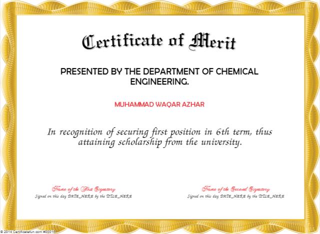 merit certificate template 22