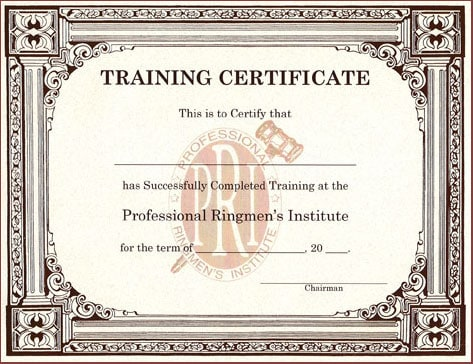 training certificate template 77