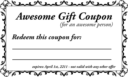 16 Coupon Templates Excel PDF Formats – Gift Coupon Template
