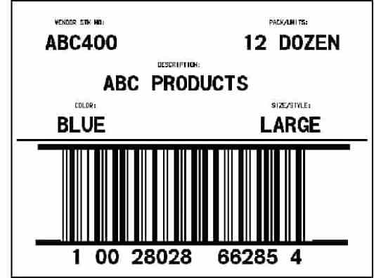 Shipping Label template 5454