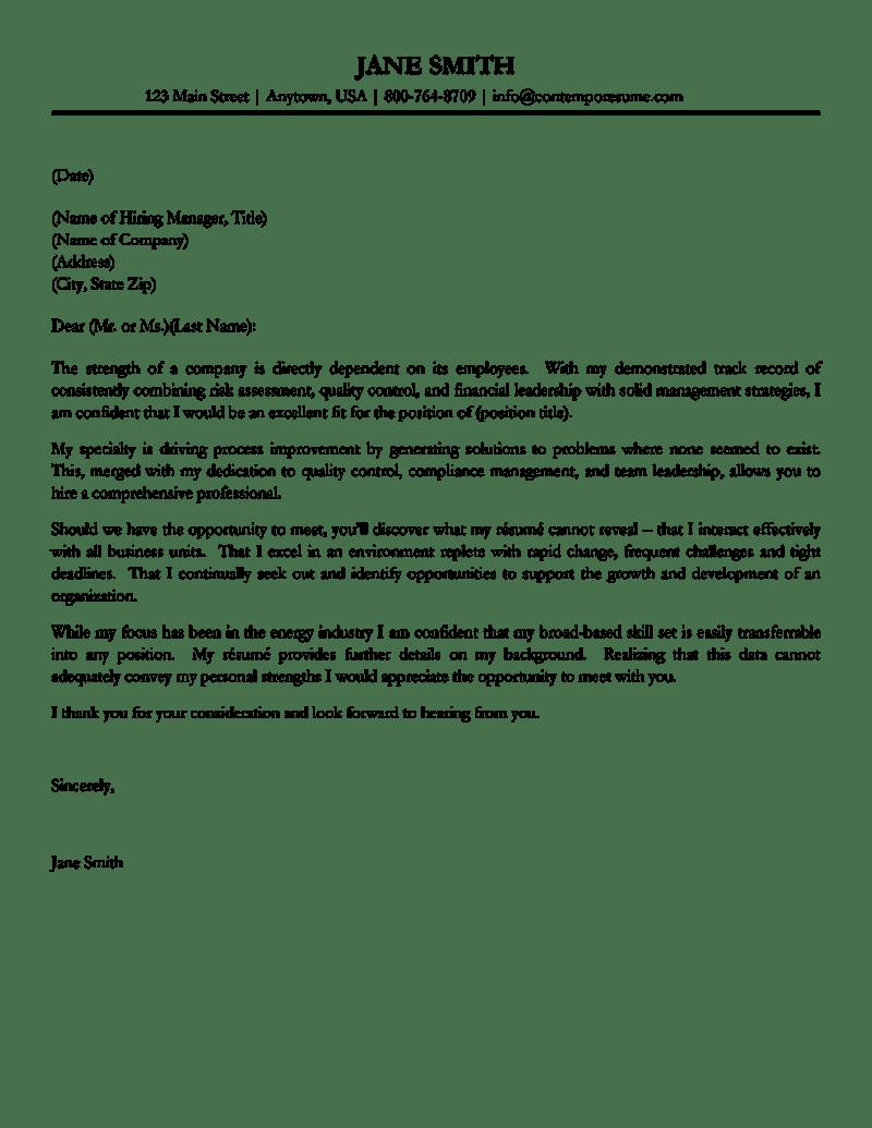 free cover letter samples management – Sample Cover Letter for Resume Free Download