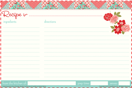 13 recipe card templates