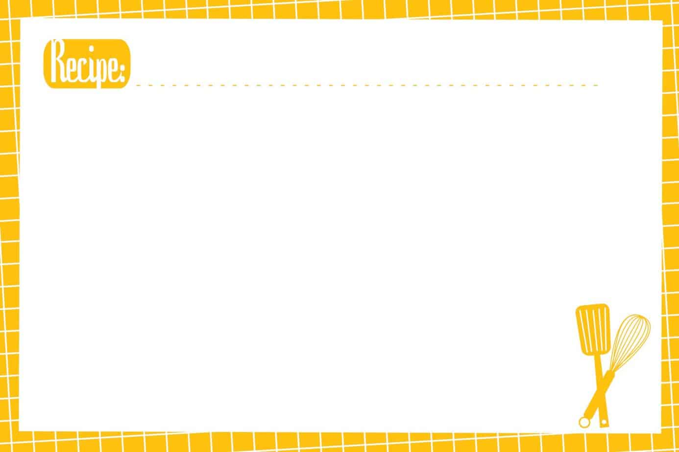 Recipe Card Template 32364  Microsoft Office Recipe Card Template