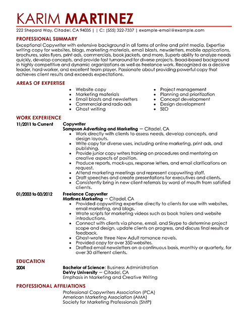 professional resume format - Copy Of A Resume Format