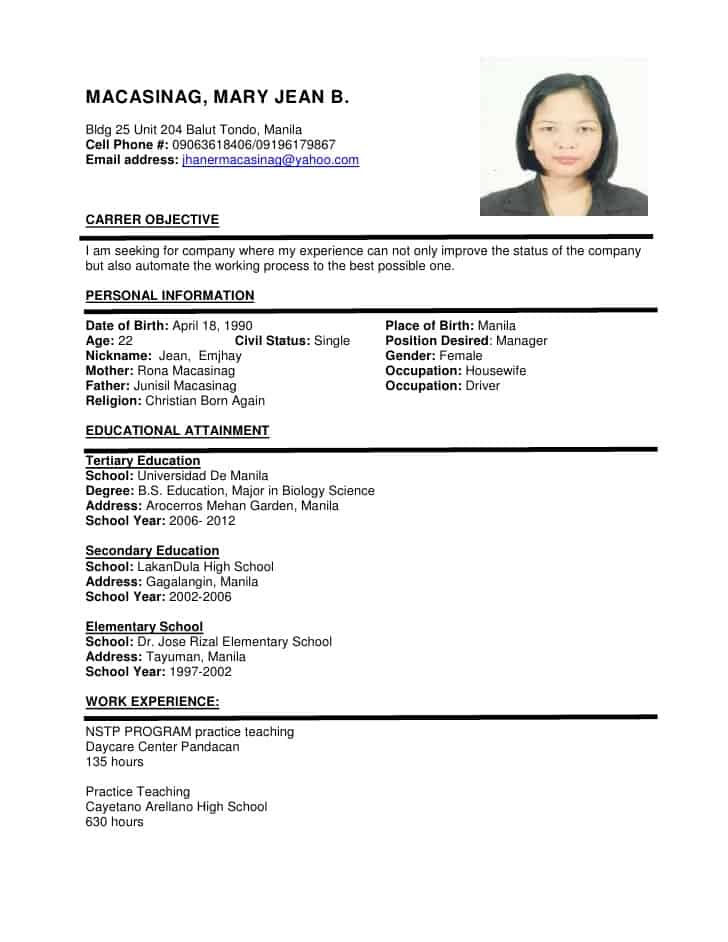 Format Resumes Microsoft Word Resume Template Free Samples Examples