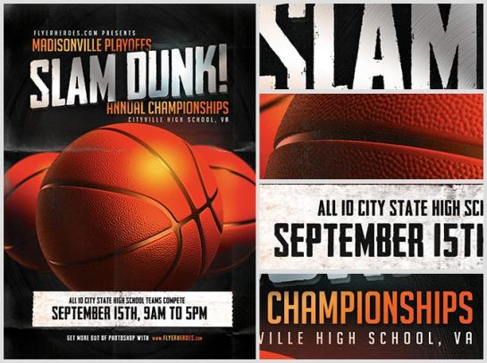 15 basketball flyer templates