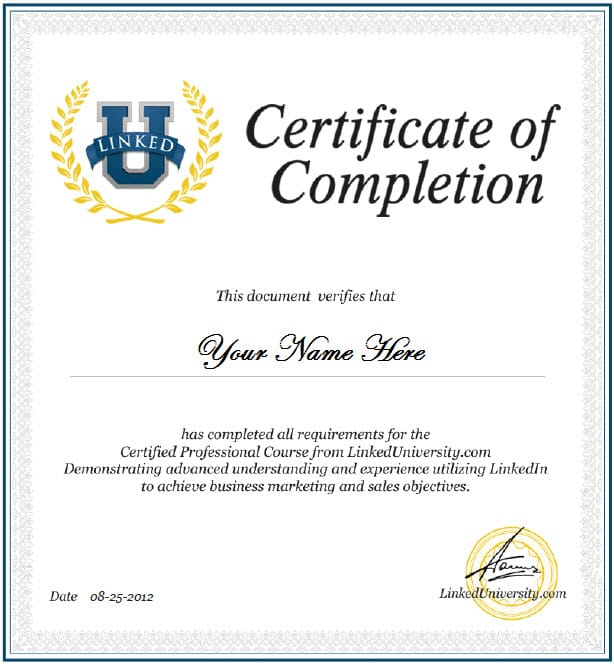 Certificate of Completion template 4785